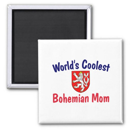 Coolest Bohemian Mom 2 Inch Square Magnet