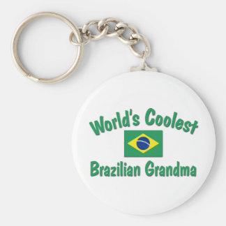 Coolest Brazilian Grandma Basic Round Button Keychain