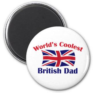 Coolest British Dad 2 Inch Round Magnet