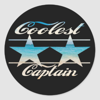 Coolest Captain Classic Round Sticker