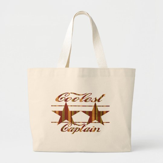 Coolest Captain Large Tote Bag