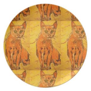 coolest cat design dinner plate  sc 1 st  Zazzle & Coolest Plates | Zazzle