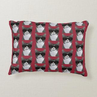 Coolest Cat In Town Decorative Pillow
