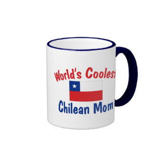 Coolest Chilean Mom Ringer Coffee Mug