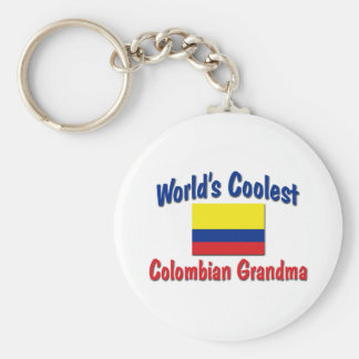 Coolest Colombian Grandma Basic Round Button Keychain