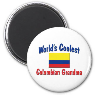 Coolest Colombian Grandma 2 Inch Round Magnet