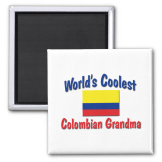Coolest Colombian Grandma 2 Inch Square Magnet