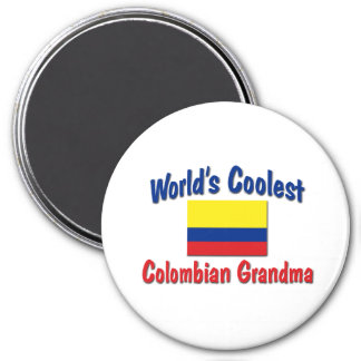 Coolest Colombian Grandma 3 Inch Round Magnet