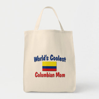 Coolest Colombian Mom Grocery Tote Bag