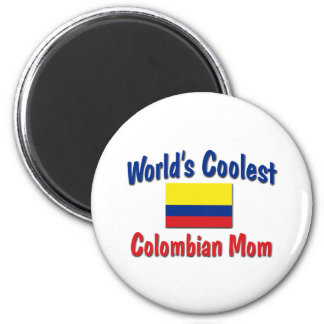 Coolest Colombian Mom 2 Inch Round Magnet