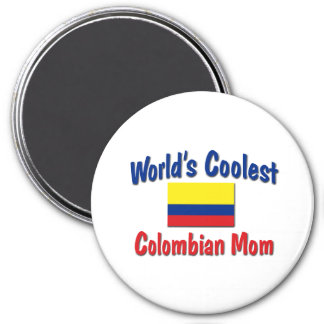 Coolest Colombian Mom 3 Inch Round Magnet