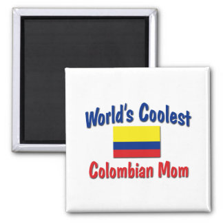 Coolest Colombian Mom 2 Inch Square Magnet