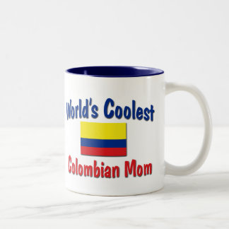 Coolest Colombian Mom Two-Tone Coffee Mug