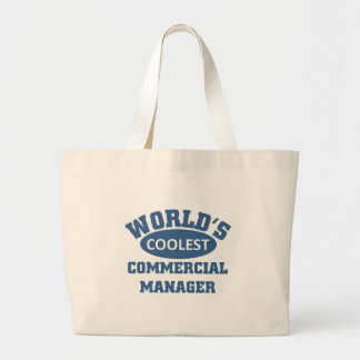 Coolest Commercial Manager Large Tote Bag