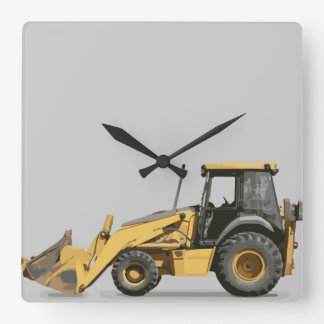 Coolest Construction Excavator Digger Square Wall Clock