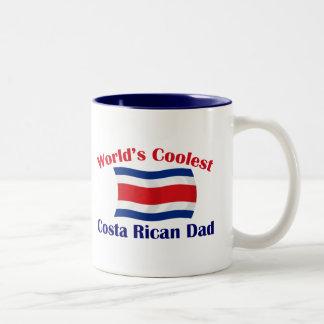 Coolest Costa Rican Dad Two-Tone Coffee Mug