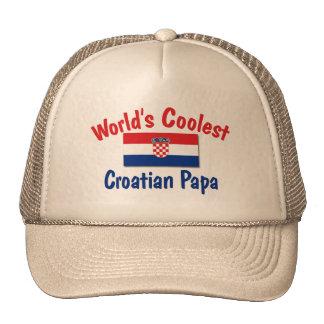 Coolest Croatian Papa Trucker Hat