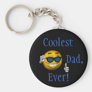 """Coolest Dad, Ever!"" [a] Keychain"