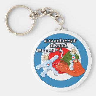 Coolest Dad Ever! Basic Round Button Keychain