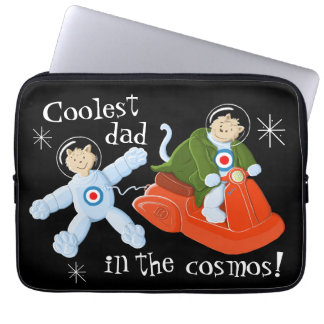 Coolest dad in the cosmos! computer sleeve