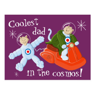 Coolest dad in the cosmos! postcard