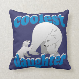 Coolest Daughter Throw Pillow