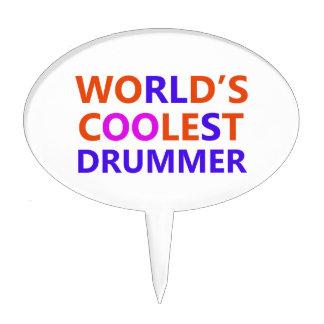 coolest Drummer Cake Topper