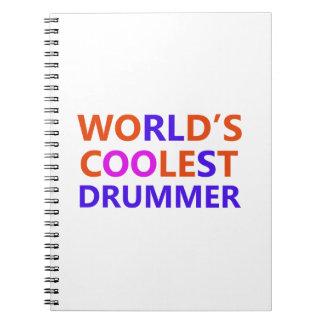 coolest Drummer Spiral Notebook