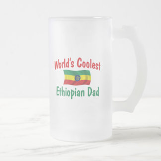 Coolest Ethiopian Dad Frosted Glass Beer Mug