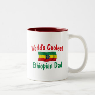 Coolest Ethiopian Dad Two-Tone Coffee Mug