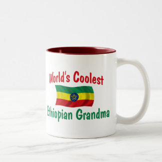 Coolest Ethiopian Grandma Two-Tone Coffee Mug