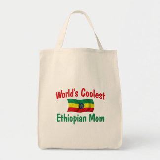 Coolest Ethiopian Mom Grocery Tote Bag