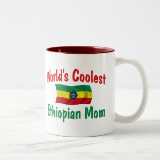 Coolest Ethiopian Mom Two-Tone Coffee Mug