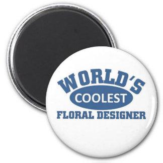 Coolest Floral Designer Fridge Magnet