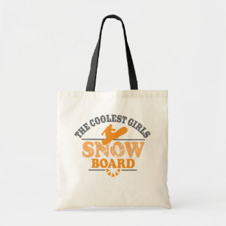 Coolest Girls Snowboard Budget Tote Bag