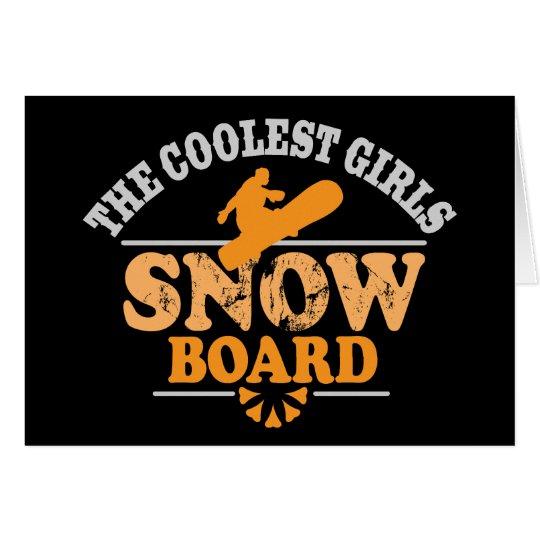 Coolest Girls Snowboard Card