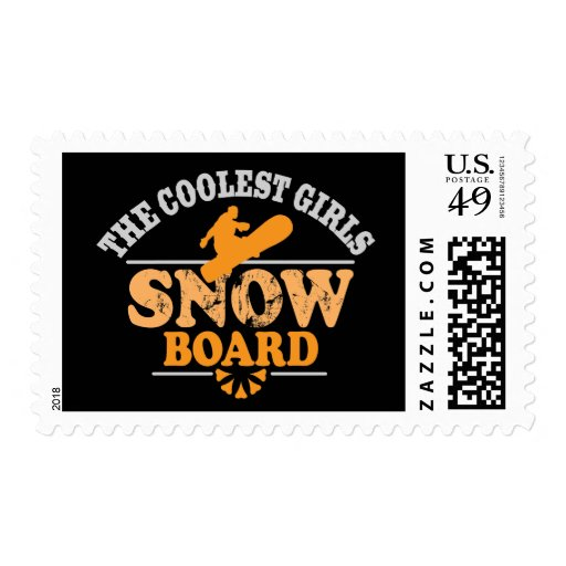 Coolest Girls Snowboard Stamps