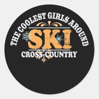 Coolest Girls XC Ski Classic Round Sticker