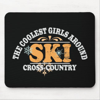 Coolest Girls XC Ski Mouse Pad