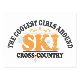 Coolest Girls XC Ski Postcard