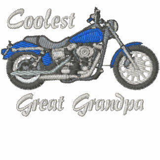 Coolest Great Grandpa Biker Embroidered Shirt
