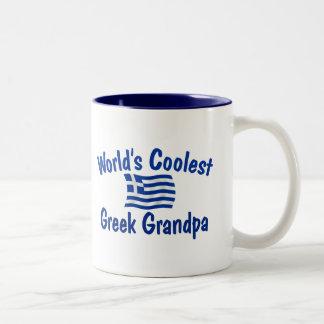 Coolest Greek Grandpa Two-Tone Coffee Mug