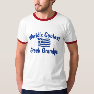 Coolest Greek Grandpa Tee Shirt