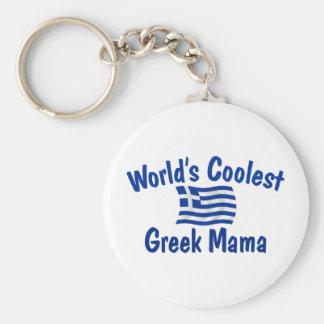 Coolest Greek Mama Keychain