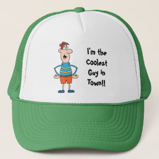 Coolest Guy Baseball Cap Template