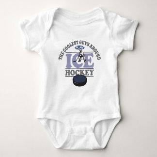 Coolest Guys Play Hockey Baby Bodysuit