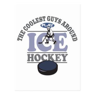 Coolest Guys Play Hockey Postcard