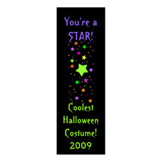 Coolest Halloween Costume! 2009, You're a STAR! Double-Sided Mini Business Cards (Pack Of 20)