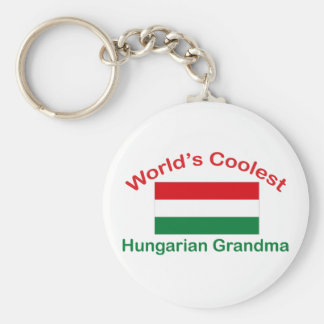 Coolest Hungarian Grandma Basic Round Button Keychain