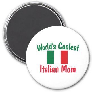 Coolest Italian Mom 3 Inch Round Magnet